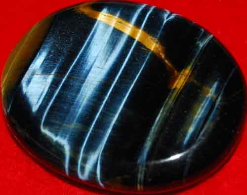 Blue Tiger Eye Worry/Thumb Stone #13