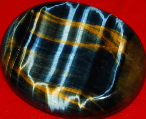 Blue Tiger Eye Worry/Thumb Stone #16