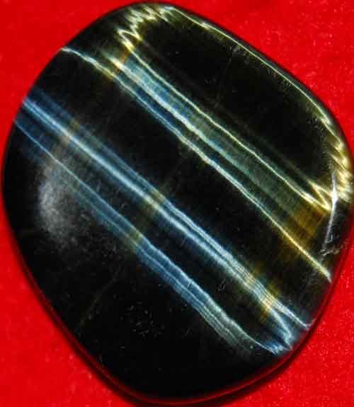Blue Tiger Eye Worry/Thumb Stone #3