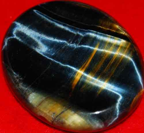 Blue Tiger Eye Worry/Thumb Stone #6