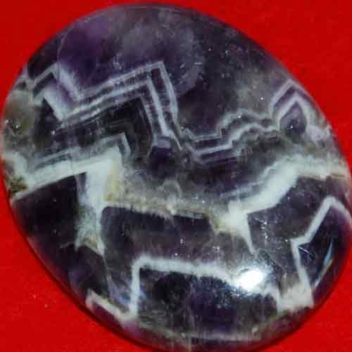 Chevron Amethyst Worry/Thumb Stone #15