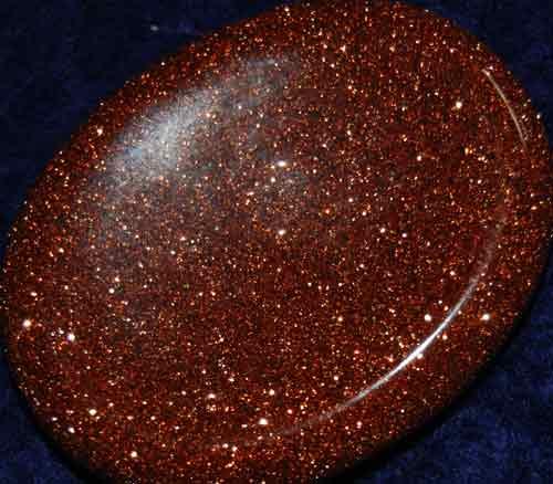 Goldstone Worry/Thumb Stone #11