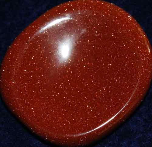 Goldstone Worry/Thumb Stone #1