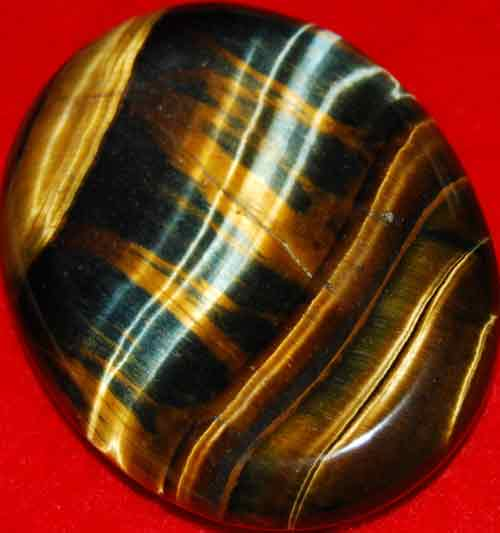 Multi-Tiger Eye Worry/Thumb Stone #13