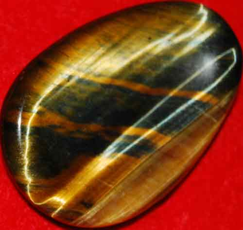 Multi-Tiger Eye Worry/Thumb Stone #5