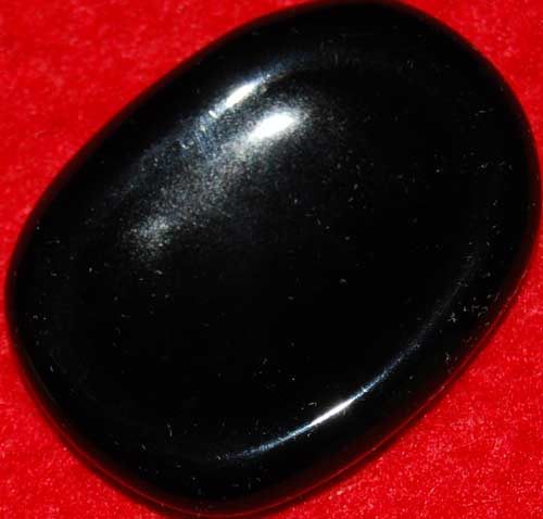 Black Obsidian Worry Stone #3