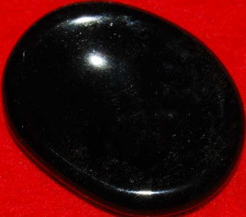 Black Obsidian Worry Stone #4
