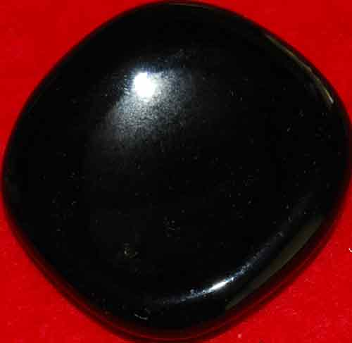 Black Obsidian Worry Stone #5