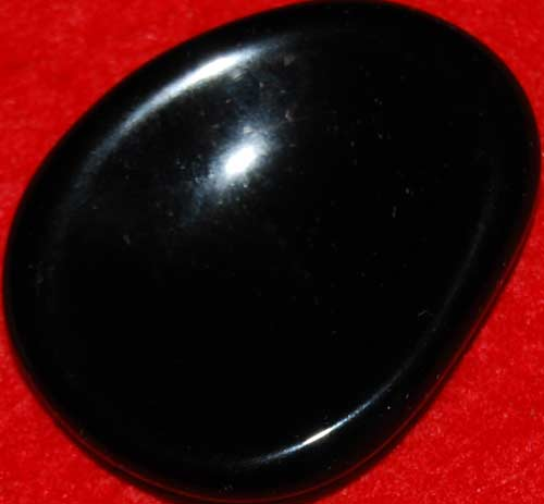 Black Obsidian Worry Stone #7
