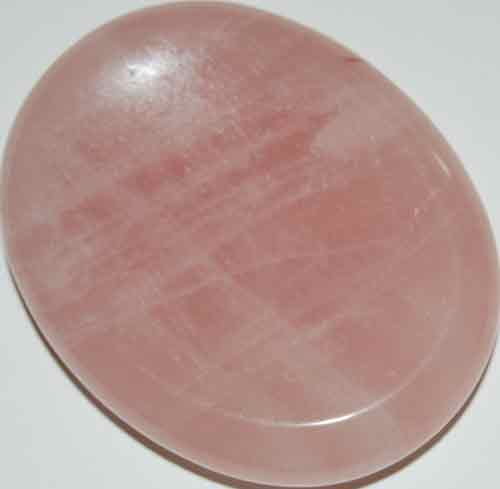 Rose Quartz Worry/Thumb Stone #18