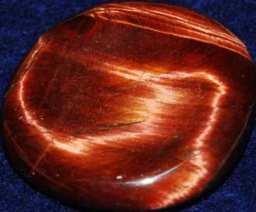 Falcon Eye (Red Tiger Eye) Worry/Thumb Stone #11