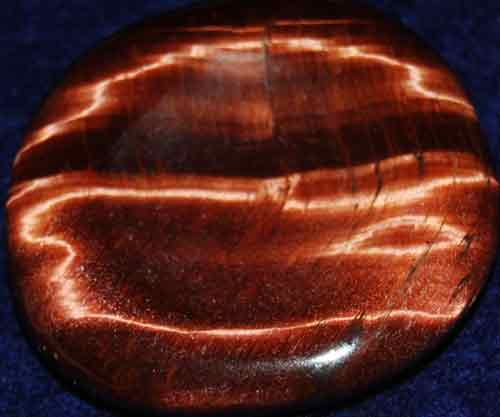 Falcon Eye (Red Tiger Eye) Worry/Thumb Stone #14