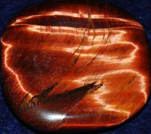 Falcon Eye (Red Tiger Eye) Worry/Thumb Stone #15