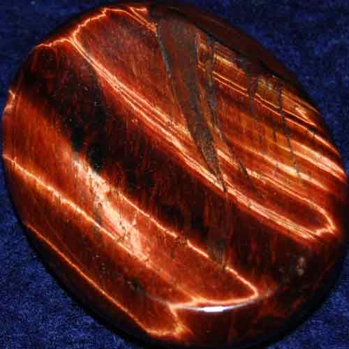 Falcon Eye (Red Tiger Eye) Worry/Thumb Stone #16