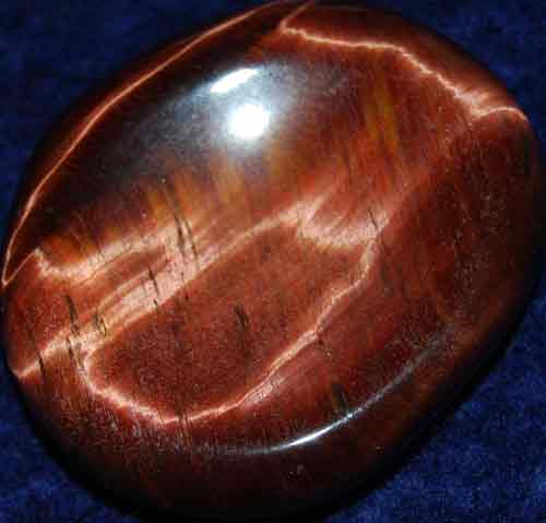 Falcon Eye (Red Tiger Eye) Worry/Thumb Stone #2