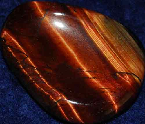 Falcon Eye (Red Tiger Eye) Worry/Thumb Stone #3