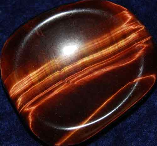 Falcon Eye (Red Tiger Eye) Worry/Thumb Stone #4