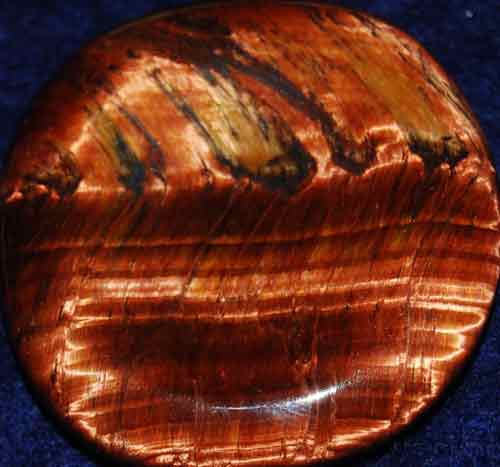 Falcon Eye (Red Tiger Eye) Worry/Thumb Stone #5
