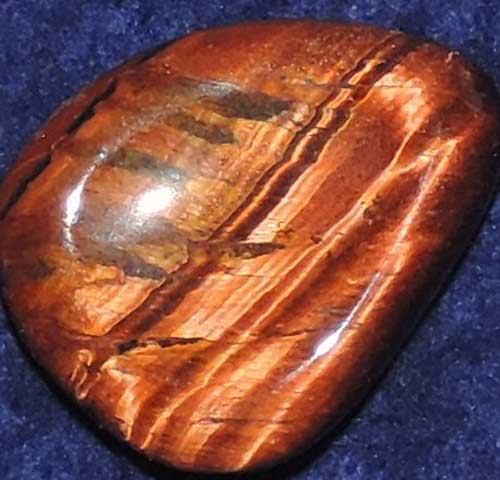 Falcon Eye (Red Tiger Eye) Worry/Thumb Stone #6