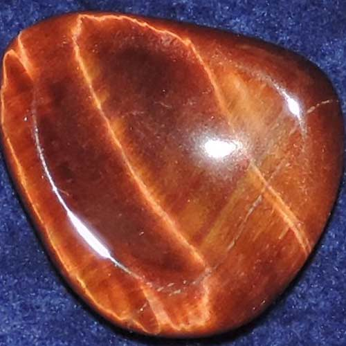 Falcon Eye (Red Tiger Eye) Worry/Thumb Stone #7