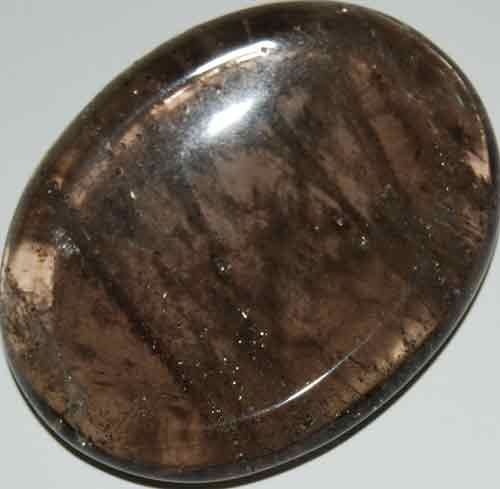 Smoky Quartz Worry/Thumb Stone #13