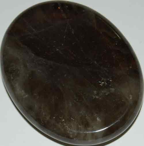 Smoky Quartz Worry/Thumb Stone #16
