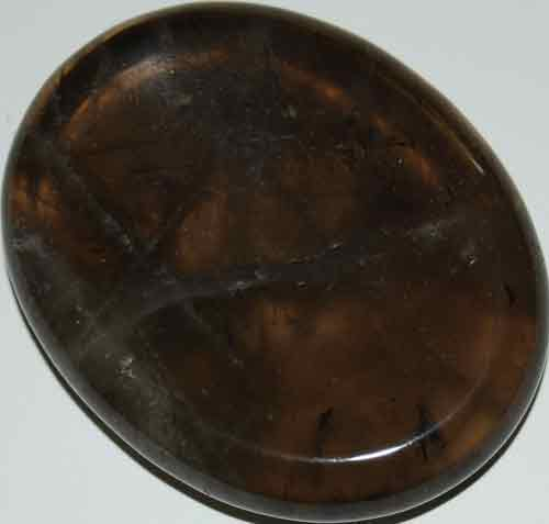 Smoky Quartz Worry/Thumb Stone #2