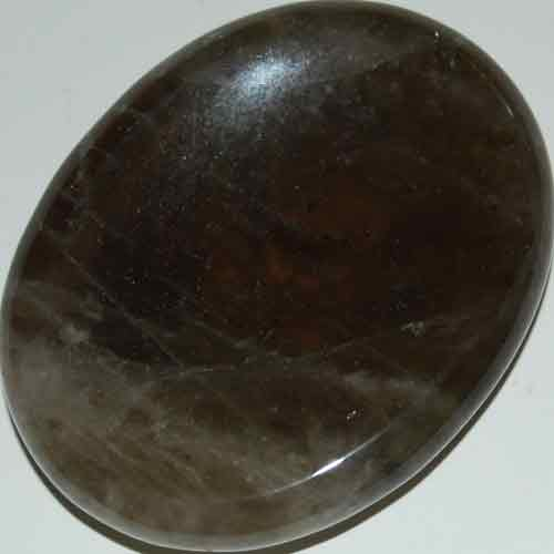 Smoky Quartz Worry/Thumb Stone #7