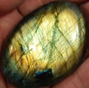 Labradorite Palm Stone #16