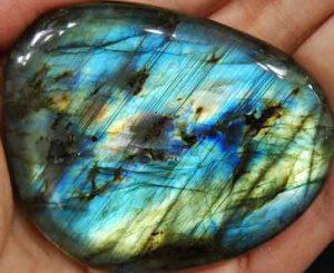 Labradorite Palm Stone #34