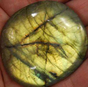 Labradorite Palm Stone #3}