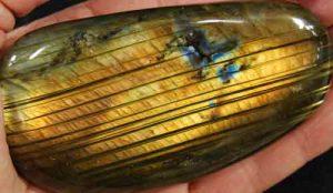 Labradorite Palm Stone (Grade AAA) #8}